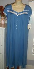 NWT S Small Eileen West Nightgown Micro Modal Gown NEW Blue Classical Touch