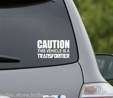 White CAUTION THIS CAR IS A TRANSFORMER Ford Figo ClassicFiesta Ecosport Sticker