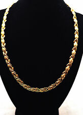 LADIES 19.5 INCH HEALING MAGNETIC THERAPY LINK NECKLACE: Gold Hugs 'N Kisses