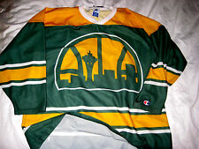 RARE CHAMPION SEATTLE SUPERSONICS ORIG SPACE NEEDLE LOGO HOCKEY STYLE JERSEY- XL