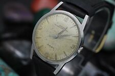 Vintage CROTON NIVADA GRECHEN Hawk Hand Wind Stainless Steel Men's Watch