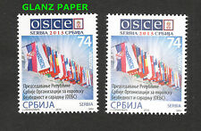 SERBIA-MNH-OSCE, EUROPA-FLAGS-SECOND PRINT,GLANZ PAPER,LIMITED PRINTING-2015.