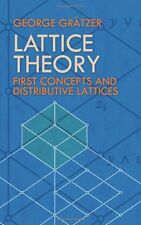 LATTICE THEORY: First Concepts by George Gratzer NEW PAPERBACK BOOK in Aust 23