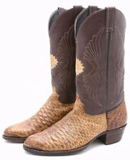 Custom Handmade Exotic Skin Cowboy Boots Sze 10 Leather Western Classic Old West