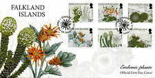 Falkland Islands 2016 FDC Endemic Plants 6v Set Cover Flowers Stamps
