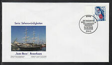 K-005) Germany 2003 First Day Cover - Gabled houses, Wismar / Barque Seute Deern