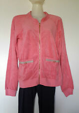 JUICY COUTURE SWEAT /GILET ZIPPE TAILLE M (FR40/EU38) EN COTON ÉPONGE ROSE BLUSH