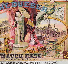 Dueber Watch Santa Rosa CA Jewelry Store Newport KY Factory old Advertising Card