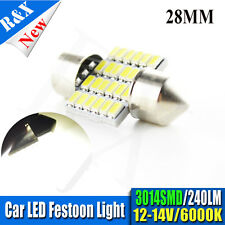 4x C5W 28mm Car Interior Festoon White 6000k 3014 LED 24 SMD BULB 12v-14v 240LM
