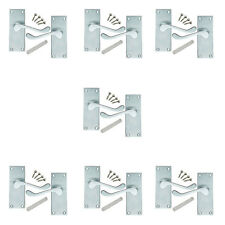 7 Pack of Victorian Scroll Satin Chrome Internal Door Handles 114x40mm