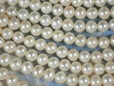 "Good Luster Pearls Large Hole Round Baroque Champagne Cultured Drops 8"" #4260"