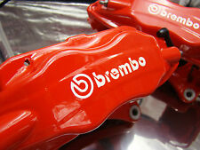 Set di 2x 90mm e 2x 75mm BREMBO BIANCO FRENO PINZA FRENO Decalcomanie Adesivi high temp