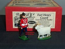 BRITAINS 40193 FORT HENRY GUARD GOAT HANDLER + MASCOT HOLLOWCAST TOY SOLDIER SET