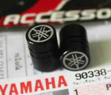 YAMAHA GENUINE WHEEL VALVE DUST CAP SET OF TWO PLAIN BLACK