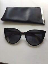 Authentic New With Case Fendi FF 0136 NY1HD Black Pink Cat Eye Sunglasses