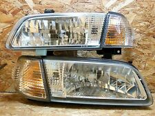 1998 2006 NISSAN SUNNY B15 SUPER SALOON KOUKI HEADLIGHT SET W CORNER LIGHT OEM
