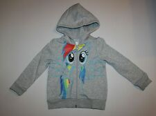 New H&M My Little Pony Rainbow Dash Hoodie Top size 6 7 8 Year NWT Wings on Back