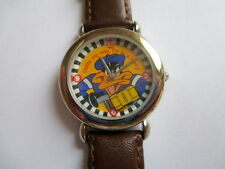 WARNER BROS. LOONEY TUNES DAFFY DUCK TAXI CAB DRIVER WATCH ROTATING CAR WORKS!