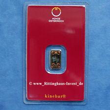 Goldbarren 1g 1 Gramm Kinebar Münze Österreich Lipizzaner Austrian Mint goldbar