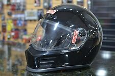 Simpson Street Bandit Gloss Black Full Face Motorcycle Helmet SIZE MEDIUM