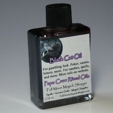 Black Cat Oil Anoint Candles Use Spells Wicca Voodoo Full Moon Gambling Magic
