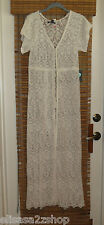 Kendall & Kylie Juniors Womens Lace Maxi Duster dress swim beach cover up M *^