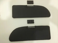 New Pair of Fiat 500 600 Black Sun Visors Complete With Mounting Clips - Kitcar
