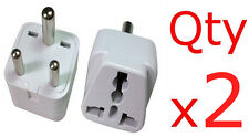 2PK American European to Indian Adapter Plug Charger Converter U.S To India