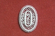 Oval lace motif - Number 0/zero - aplique - sew on trim - craft - card making