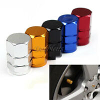 4 x Aluminum Wheel Tyre Tube Tire Valve Dust Cover Caps For Car Motorcycle Bike