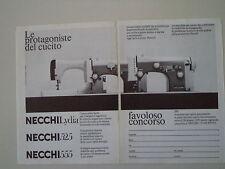 advertising Pubblicità 1970 MACCHINA PER CUCIRE NECCHI LYDIA/525/555