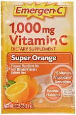 Emergen-C Vitamin C Fizzy Drink Mix 1000 mg Super Orange - 30 Packets - 0.3 Oz