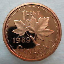 1989 CANADA 1 CENT PROOF PENNY COIN - A