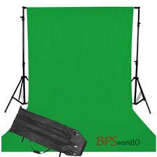 Photo Studio 2.8x1.8m Green Muslin Cotton Backdrop 2.8x3m Background Stand Kit