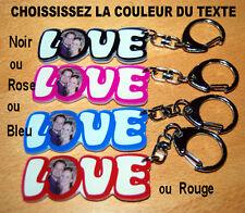 Porte clés LOVE avec votre photo, couleur du texte au choix cadeau st-valentin