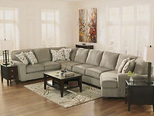 HUNTER - 4pcs Oversized Modern Gray Fabric Sofa Couch Sectional Set Living Room