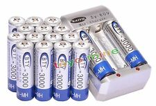16pcs Ni-MH BTY Rechargeable Battery Cell  AA 3000mAh + AA Battery Charger