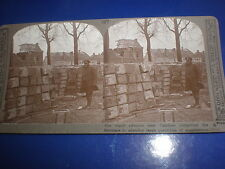 Old Stereoview photograph WW1 captured German ammo dump Cambrai c1916