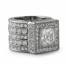 Mens Iced Out Square Cubic Zirconia Bling Ring Size 8 Brand New Great Gift