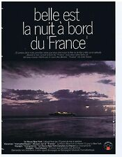 PUBLICITE ADVERTISING 104 1969 Belle est la nuit au bord du 'France'