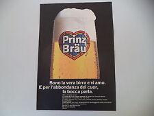 advertising Pubblicità 1967 BIRRA BEER PRINZ BRAU
