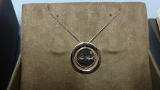 "Welsh Clogau Silver & Rose Gold Love Circles Pendant 17"" Chain RRP £129 Type 3"