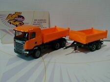 "Herpa 306034 # Scania R13 3/2achs Tandem Baukipper in "" Orange "" 1:87  NEU !!"