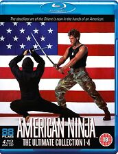 American Ninja: The Ultimate Collection 1 2 3 4 1-4 [Blu-ray Set, Region B] NEW