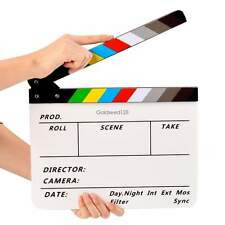 NEW Colorful Clapperboard Acrylic Movie Film Action Slate Clapper Board Handmade
