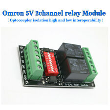 DC5V Road Relay Module Dual Optocoupler Isolation High And Low Interoperability