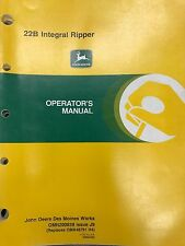 John Deere Operators Manual 22B Integral Ripper #OMN200839 J9