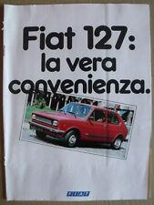 Catalogo AUTO FIAT 127 Novembre 1980 tutti i modelli 16 pagine   [TR.10]