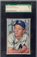 1952-Bowman-Mickey-Mantle-101-SGC 60 psa 5 centered nice!