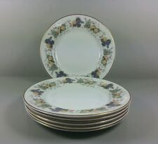 ROYAL DOULTON RAVENNA H4977 SET OF 6 X TEA / SIDE PLATES 16.5CM (PERFECT)